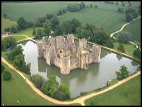 BodiamEastSussex - Hot air balloon launching from the Castle g