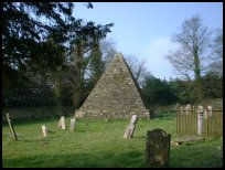 BrightlingEastSussex - The Pyramid in the churchyard
