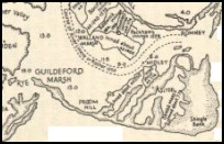 BroomhillEastSussex - A map showing the marshes in the 1200s