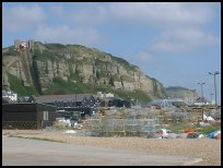 East Cliff from the stade