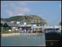 Modern amusements onHastings seafront